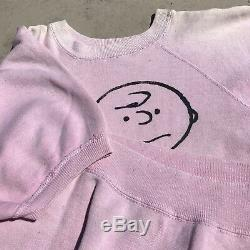 Vintage Charlie Brown Peanuts Mayo Spruce Sweat-shirt Pull Moyen Snoopy