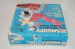 Vintage Charlie Brown Snoopy Flying Doghouse Red Baron Vertibird Scellé Nos
