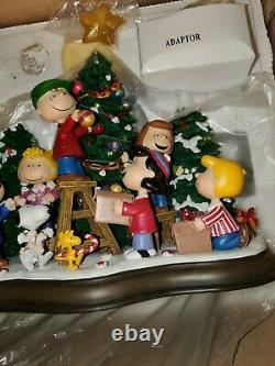 Vintage Danbury Mint Christmas Time Is Here Peanuts Snoopy Charlie Brown Nrfb