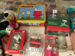 Vintage Grand Lot Snoopy Peanuts Charlie Brown Schulz Collection D'articles Look