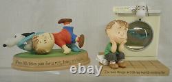Vintage Hallmark Peanuts Galerie Snoopy Charlie Brown Linus Figurine Statues Lot