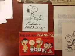 Vintage Peanuts Charles Schulz Collection Snoopy Charlie Brown Dessin Animé