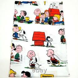 Vintage Peanuts Snoopy Twin Feuille Plate Oreiller Case United Feature Syndicate