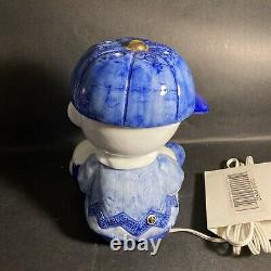 Vintage Peanuts Ufs Baseball Charlie Brown & Snoopy Lampe En Céramique De Travail / Bg