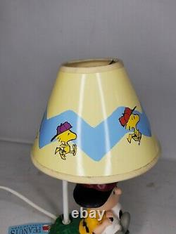 Vintage Peanuts Westland #8265 Charlie Brown & Snoopy Lampe, Excellent État