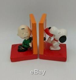 Vintage Schultz Peanuts Snoopy & Charlie Brown Serre-livres, Japon
