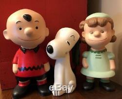 Vintage Snoopy Charlie Brown Lucy Peanuts Gang Céramique Figurines Peintes