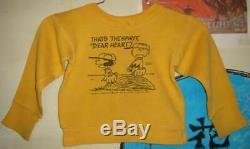 Vintage Snoopy Lucy Charlie Brown Sweat Pour Enfants Vieux Vêtements Taille S-8 60