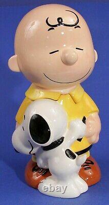 Vintage Westland Giftware Peanuts Snoopy Étreindre Charlie Brown 13 1/2 Cookie Jar