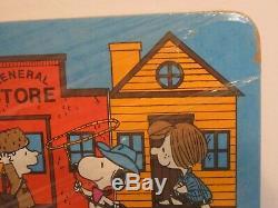 Vtg 1960 Cartoon Charlie Brown Peanuts Snoopy Woodstock Cork Bulletin Board Nos