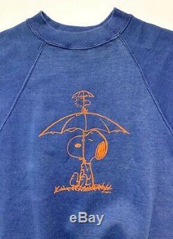 Vtg Années 1960 Snoopy À Manches Courtes Sweat-shirt Xs S Arachides Woodstock 60 Mayo Épinette