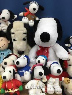 Vtg & Modern Lot 49 Peanuts Snoopy Belle Woodstock Charlie Brown Plush Lot Utilisé