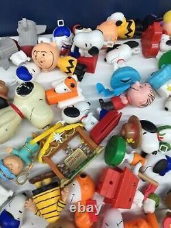 Vtg Moderne Mixte Lot 10 Lbs Peanuts Snoopy Charlie Brown Figurines De Jouets Happy Meal