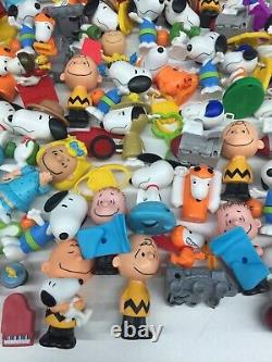 Vtg Moderne Mixte Lot 11 Lbs Peanuts Snoopy Charlie Brown Figurines De Jouets Happy Meal
